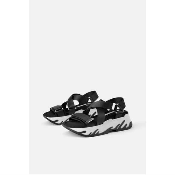 Trafaluc by Zara Athletic Platform Sandals